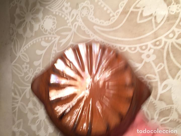 Antigüedades: Antiguos 2 tarrinas / platos de ceramica marrón popular Catalana pequeño años 40-50 - Foto 7 - 197365810