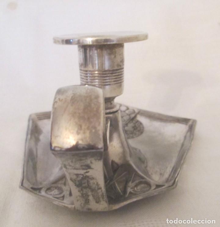Antigüedades: Antigua palmatoria de la marca WMF, Alemania, en metal plateado con baño de plata. - Foto 6 - 197372805