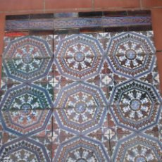 Antigüedades: MURAL AZULEJOS DE REFLEJOS. Lote 197373577