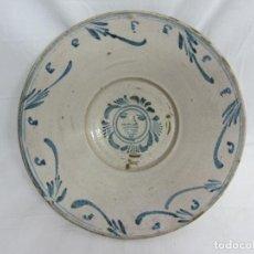 Antigüedades: CUENCO ARAGONÉS DE TERUEL S.XIX CON UN SOL. Lote 197404657