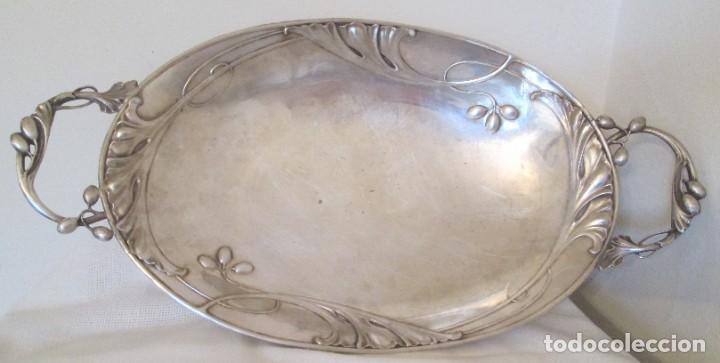Antigüedades: Preciosa bandeja para pasteles o centro de mesa. Art Nouveau. Circa 1900. - Foto 4 - 197424701