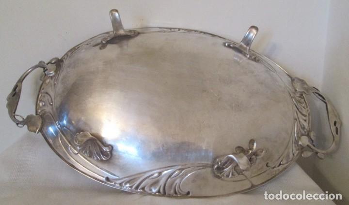 Antigüedades: Preciosa bandeja para pasteles o centro de mesa. Art Nouveau. Circa 1900. - Foto 8 - 197424701