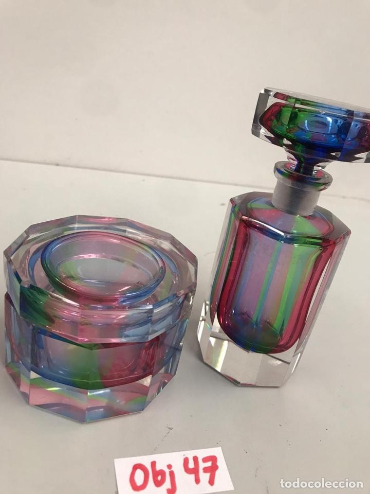 Antigüedades: Juego tocador cristal de murano - Foto 2 - 197426598