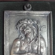 Antigüedades: PLACA DEVOCIONAL / BRONCE / ECCE HOMO . Lote 197452743