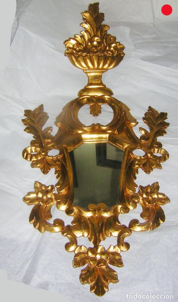 CORNUCOPIA MUY BONITA AL ORO FINO, S XVIII / XIX (Antigüedades - Muebles Antiguos - Cornucopias Antiguas)