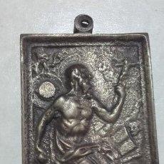 Antigüedades: PLACA DEVOCIONAL / BRONCE / SAN JERÓNIMO. Lote 197452412