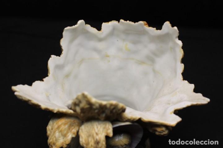Antigüedades: MEISSEN, JARRÓN EN FORMA DE HAZ DE TRIGO CON NIÑA AL FRENTE - Foto 5 - 197455407