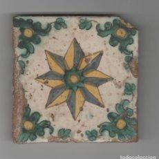 Antigüedades: ANTIGUO AZULEJO DE CERAMICA-SIGLO XVII. Lote 197464276