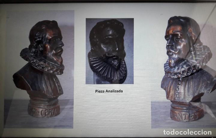 Antigüedades: Paper Cutter Época Victoriana Sellado Con Imagen Cervantes. - Foto 6 - 197472892