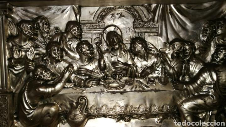 Antigüedades: SANTA CENA EN ALPACAR PLATEADA - Foto 3 - 197484633