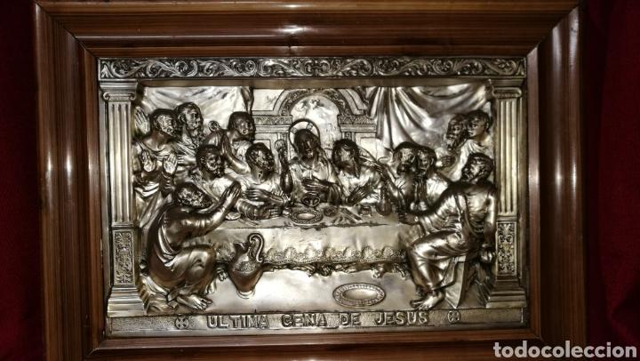SANTA CENA EN ALPACAR PLATEADA (Antigüedades - Hogar y Decoración - Marcos Antiguos)