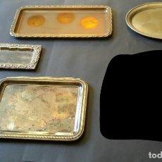 Antigüedades: CONJUNTO DE 4 BANDEJAS. Lote 197543856