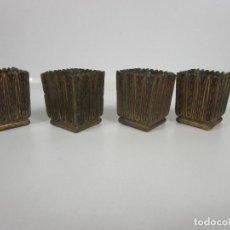 Antigüedades: PRECIOSAS DECORACIONES DE MESA, ETC - PARA PATAS DE MUEBLE - BRONCE CINCELADO - S. XIX. Lote 197562115