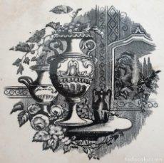 Antigüedades: EXCEPCIONAL FUENTE,BANDEJA DE LA FABRICA LA AMISTAD,CARTAGENA,(MURCIA),S.XIX. Lote 197588290