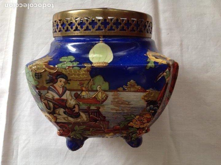 FLORERO POT-POURRÍ INGLES (Antigüedades - Hogar y Decoración - Floreros Antiguos)