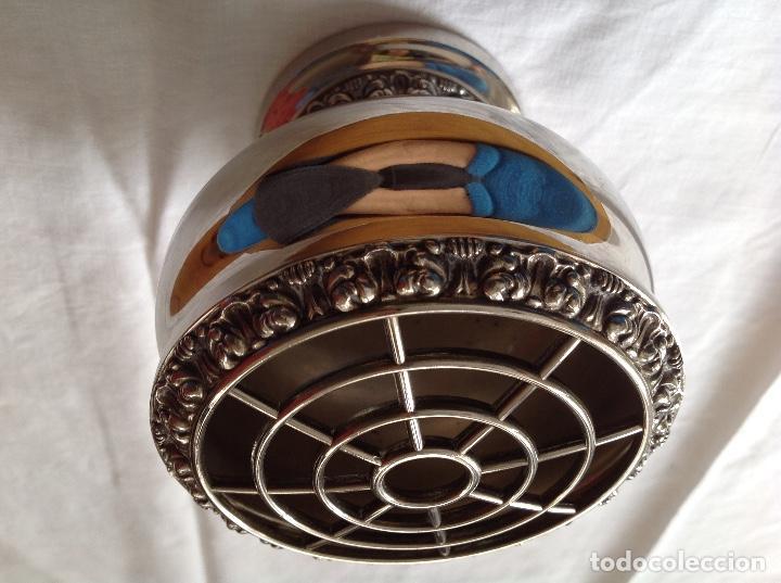 Antigüedades: Pot-pourrí de metal plateado - Foto 2 - 197593622