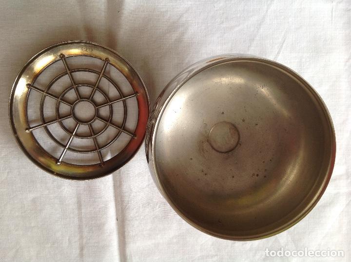 Antigüedades: Pot-pourrí de metal plateado - Foto 3 - 197593622