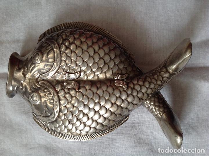Antigüedades: Florero de bronce plateado - Foto 2 - 197594005