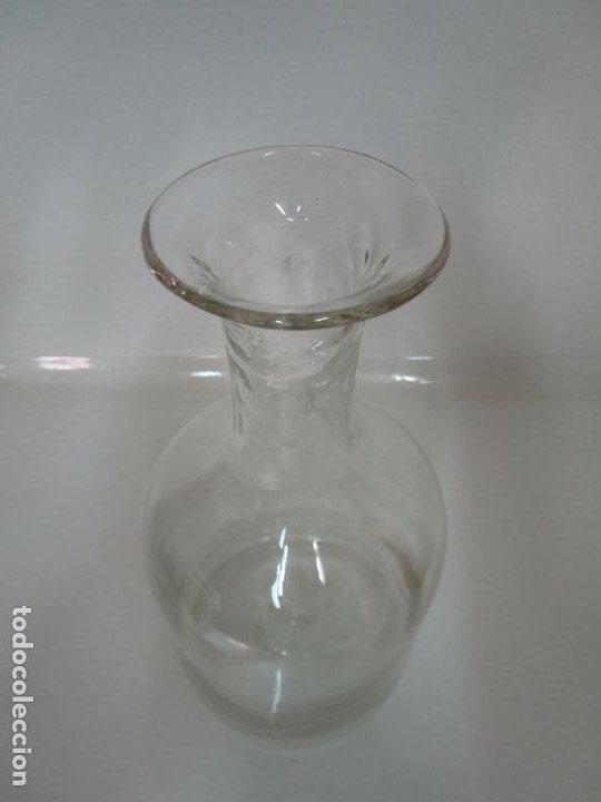 Antigüedades: Antigua Botella - Cristal Soplado Catalán - 34 cm - S. XIX - Foto 4 - 197644258