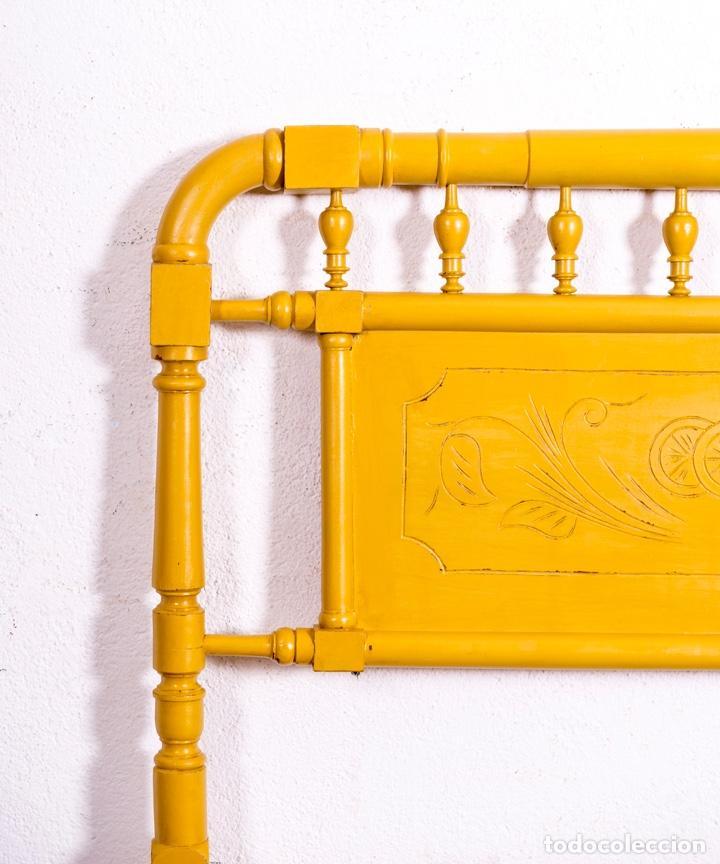 Antigüedades: Cabecero Antiguo Restaurado Armel - Foto 3 - 197648898