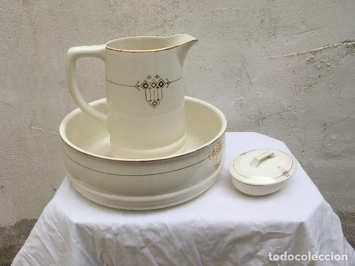 JOFAINA O AGUAMANIL CON COMPLEMENTO TOCADOR. MUY BONITO (Antigüedades - Porcelana y Cerámica - Holandesa - Delft)