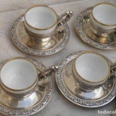 Antigüedades: JUEGO CAFE TAZAS Y PLATOS 6 UNIDADES. Lote 197670343