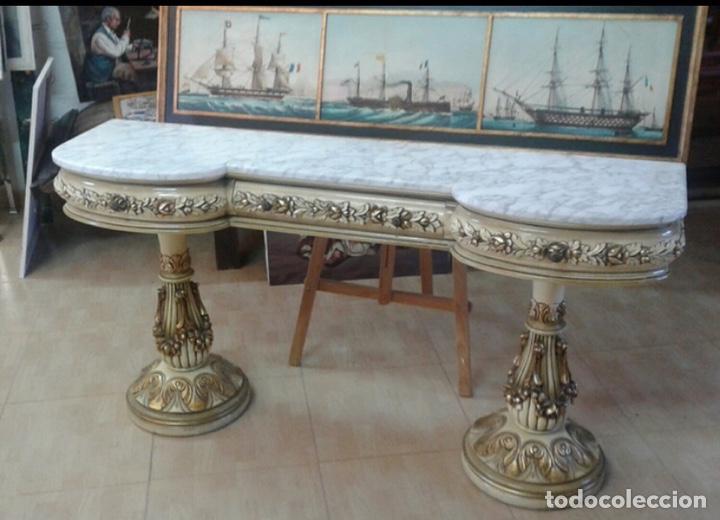 CONSOLA ESTILO BARROCO (Antigüedades - Muebles Antiguos - Consolas Antiguas)