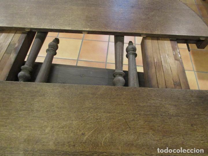 Antigüedades: Antigua Mesa de Comedor - Extensible - Madera de Roble - Pata de Bola, Tallada - Francia - S. XIX - Foto 18 - 91328305