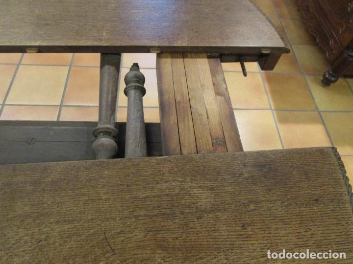 Antigüedades: Antigua Mesa de Comedor - Extensible - Madera de Roble - Pata de Bola, Tallada - Francia - S. XIX - Foto 19 - 91328305