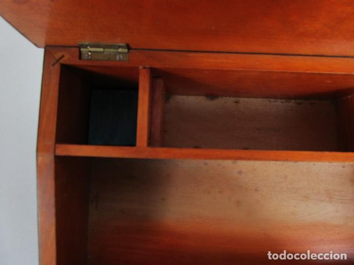 Antigüedades: Caja Escritorio - Madera de Jacarandá - Estuco Central - Tintero - S. XIX - Foto 13 - 197740108