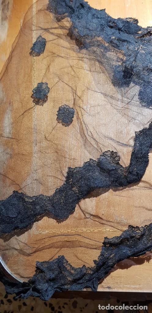 Antigüedades: MANTILLA VELO PARA MISA EN COLOR NEGRO - Foto 2 - 197776053