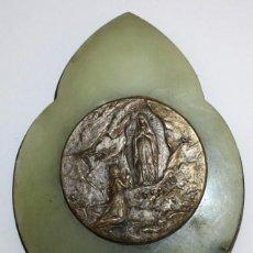 Antigüedades: BENDITERA DE NUESTRA SEÑORA DE LOURDES. Lote 197785816