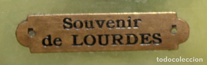 Antigüedades: BENDITERA DE NUESTRA SEÑORA DE LOURDES - Foto 4 - 197785816