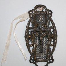 Antigüedades: BENDITERA DE FINALES DEL SIGLO XIX EN METAL PLATEADO. Lote 197786987