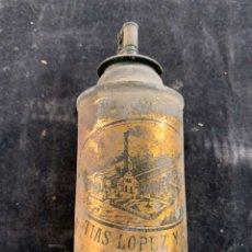 Antigüedades: ANTIGUA LATA DE MATÍAS LOPEZ Y LOPEZ MADRID. Lote 197843125
