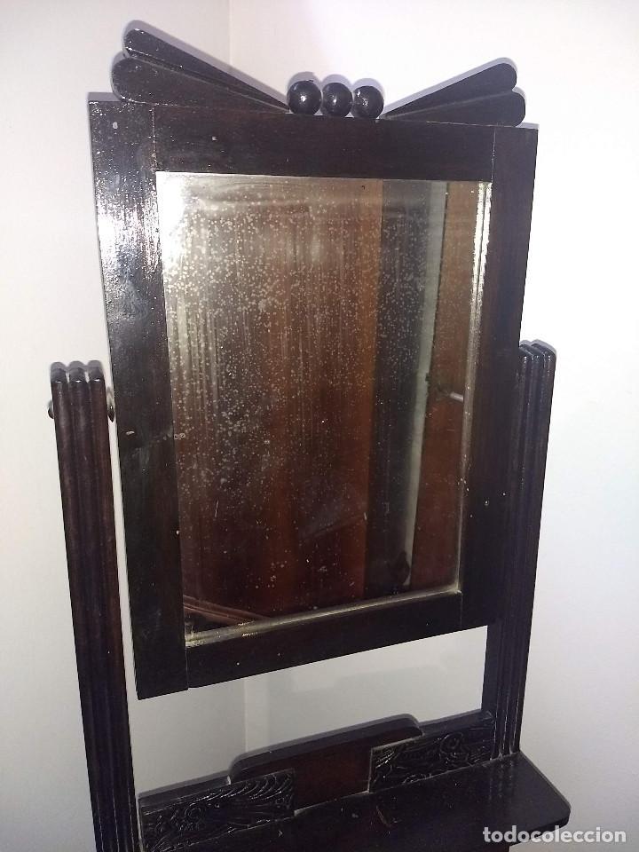 Antigüedades: Antiguo mueble lavamanos. Con Jofaina, aguamanil y espejo original. Principios del Siglo XX - Foto 8 - 197844547