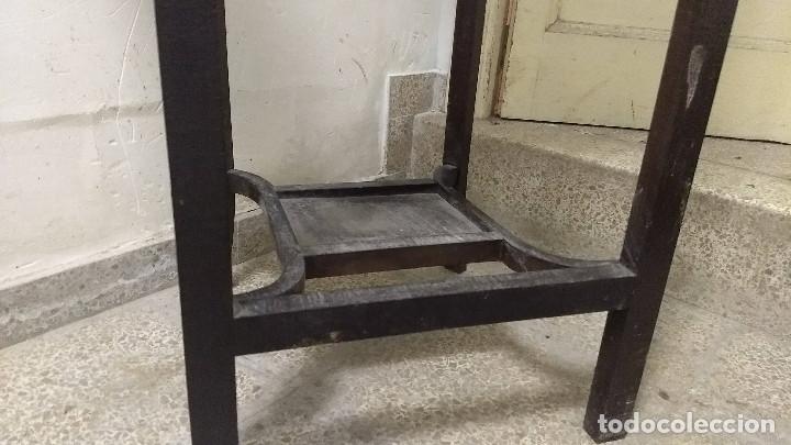 Antigüedades: Antiguo mueble lavamanos. Con Jofaina, aguamanil y espejo original. Principios del Siglo XX - Foto 24 - 197844547