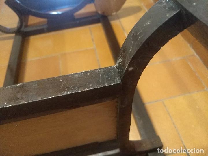 Antigüedades: Antiguo mueble lavamanos. Con Jofaina, aguamanil y espejo original. Principios del Siglo XX - Foto 31 - 197844547