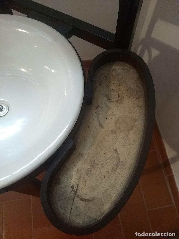 Antigüedades: Antiguo mueble lavamanos. Con Jofaina, aguamanil y espejo original. Principios del Siglo XX - Foto 35 - 197844547