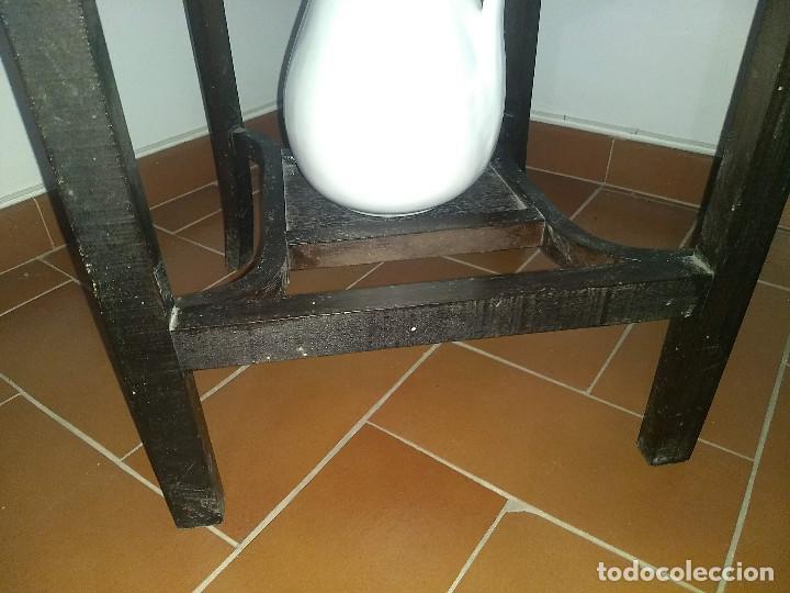 Antigüedades: Antiguo mueble lavamanos. Con Jofaina, aguamanil y espejo original. Principios del Siglo XX - Foto 42 - 197844547