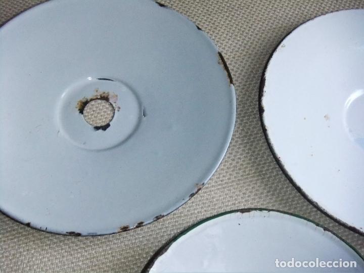 Antigüedades: 3 ANTIGUAS TULIPAS DE PORCELANA ESMALTADA - Foto 6 - 197863986