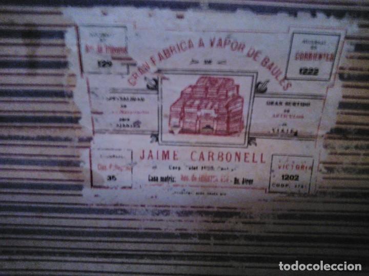 Antigüedades: Baúl de viaje de 1.896. Gran capacidad. - Foto 11 - 182575833