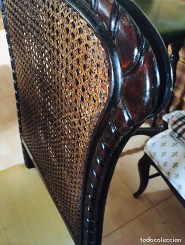 Antigüedades: Sillas con espaldar doble rejilla - Foto 4 - 197878016