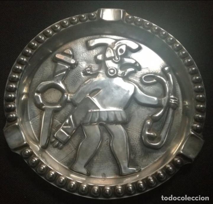 Antigüedades: Cenicero Mexico años 70. Plata de Ley - Foto 2 - 197879916