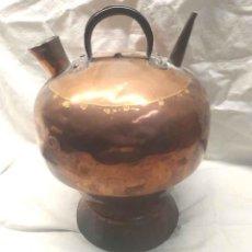 Antigüedades: BOTIJO CANTIR CATALÁN S XIX, AMARTILLADO A MANO. MED. 32 CM ALTURA. Lote 197886116