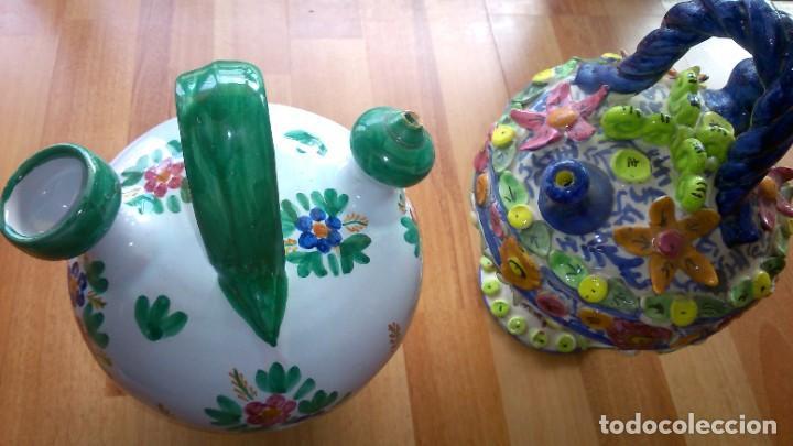 PAREJA DE BOTIJOS (TALAVERA) (Antigüedades - Porcelanas y Cerámicas - Talavera)