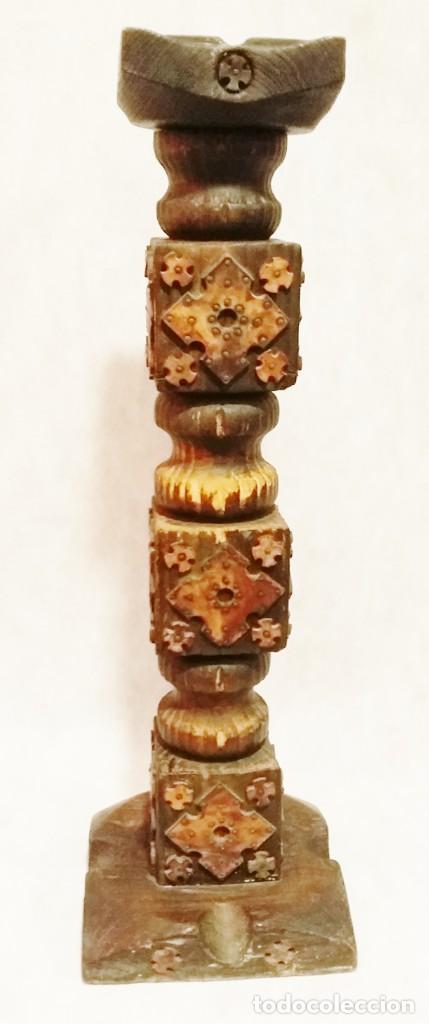 Antigüedades: Curioso cenicero de madera y cuero vintage - Envío gratis Península - Foto 13 - 197902921