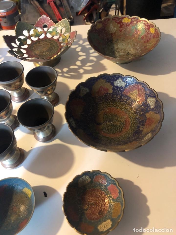 Antigüedades: Servicio de metal - Foto 4 - 197904112