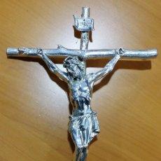 Antigüedades: CRUCIFIJO - CRISTO BAÑADO EN PLATA - ENVÍO GRATIS PENÍNSULA. Lote 197917003