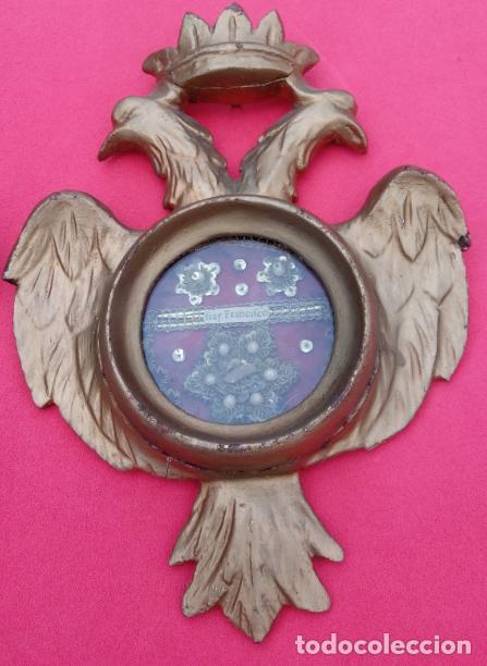 Antigüedades: PAREJA RELICARIOS SIGLO XVIII, CON RELIQUIAS DE SAN FRANCISCO SOLANO. DIM.- 25X18 CMS (BUEN TAMAÑO) - Foto 3 - 197942671